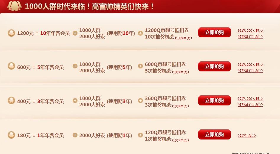 腾讯QQ1000人群上线 QQ最新可容纳1000人的QQ群上线 高富帅精英们快来