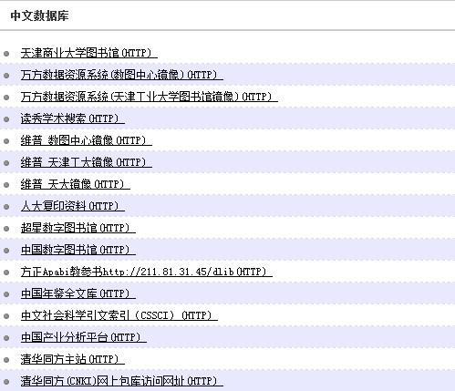 [推荐]天津某大学资源访问系统 读秀、万方数据库、维普数据库以及大量外文资源可用